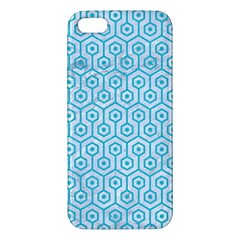 Hexagon1 White Marble & Turquoise Colored Pencil (r) Iphone 5s/ Se Premium Hardshell Case