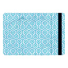 Hexagon1 White Marble & Turquoise Colored Pencil (r) Apple Ipad Pro 10 5   Flip Case