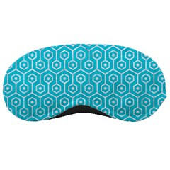 Hexagon1 White Marble & Turquoise Colored Pencil Sleeping Masks by trendistuff