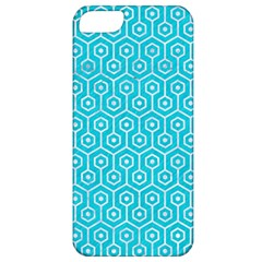 Hexagon1 White Marble & Turquoise Colored Pencil Apple Iphone 5 Classic Hardshell Case by trendistuff