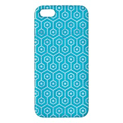 Hexagon1 White Marble & Turquoise Colored Pencil Iphone 5s/ Se Premium Hardshell Case by trendistuff