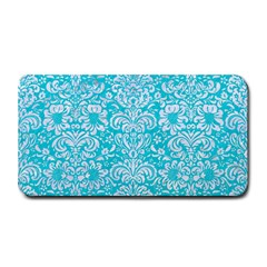 Damask2 White Marble & Turquoise Colored Pencil Medium Bar Mats by trendistuff