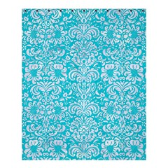 Damask2 White Marble & Turquoise Colored Pencil Shower Curtain 60  X 72  (medium)  by trendistuff