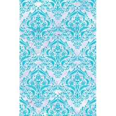 Damask1 White Marble & Turquoise Colored Pencil (r) 5 5  X 8 5  Notebooks by trendistuff