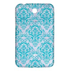 Damask1 White Marble & Turquoise Colored Pencil (r) Samsung Galaxy Tab 3 (7 ) P3200 Hardshell Case  by trendistuff
