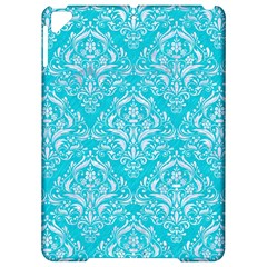 Damask1 White Marble & Turquoise Colored Pencil Apple Ipad Pro 9 7   Hardshell Case