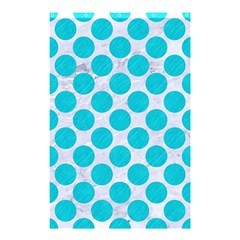 Circles2 White Marble & Turquoise Colored Pencil (r)encil (r) Shower Curtain 48  X 72  (small)