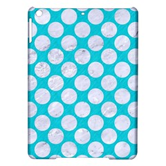 Circles2 White Marble & Turquoise Colored Pencil Ipad Air Hardshell Cases by trendistuff