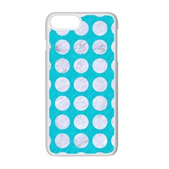 Circles1 White Marble & Turquoise Colored Pencil Apple Iphone 7 Plus Seamless Case (white) by trendistuff