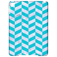 Chevron1 White Marble & Turquoise Colored Pencil Apple Ipad Pro 9 7   Hardshell Case by trendistuff