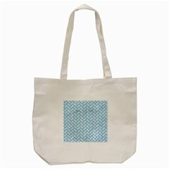 Brick2 White Marble & Turquoise Colored Pencil (r) Tote Bag (cream) by trendistuff