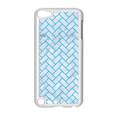 Brick2 White Marble & Turquoise Colored Pencil (r) Apple Ipod Touch 5 Case (white) by trendistuff