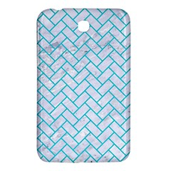Brick2 White Marble & Turquoise Colored Pencil (r) Samsung Galaxy Tab 3 (7 ) P3200 Hardshell Case  by trendistuff