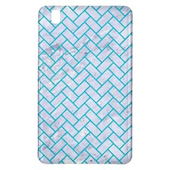 Brick2 White Marble & Turquoise Colored Pencil (r) Samsung Galaxy Tab Pro 8 4 Hardshell Case by trendistuff