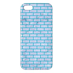 Brick1 White Marble & Turquoise Colored Pencil (r) Iphone 5s/ Se Premium Hardshell Case by trendistuff