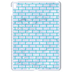 Brick1 White Marble & Turquoise Colored Pencil (r) Apple Ipad Pro 9 7   White Seamless Case by trendistuff