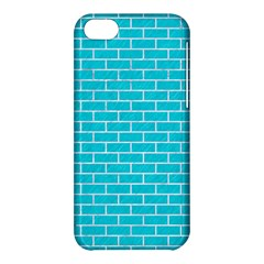 Brick1 White Marble & Turquoise Colored Pencil Apple Iphone 5c Hardshell Case by trendistuff
