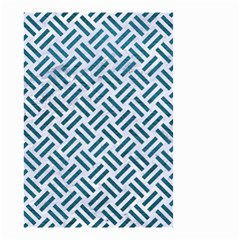 Woven2 White Marble & Teal Leather (r) Small Garden Flag (two Sides) by trendistuff