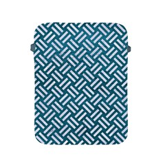 Woven2 White Marble & Teal Leather Apple Ipad 2/3/4 Protective Soft Cases by trendistuff