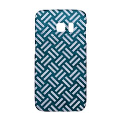 Woven2 White Marble & Teal Leather Galaxy S6 Edge by trendistuff
