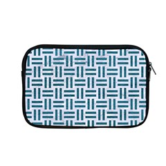 Woven1 White Marble & Teal Leather (r) Apple Macbook Pro 13  Zipper Case by trendistuff