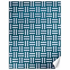Woven1 White Marble & Teal Leather Canvas 18  X 24   by trendistuff