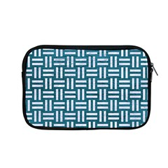 Woven1 White Marble & Teal Leather Apple Macbook Pro 13  Zipper Case by trendistuff