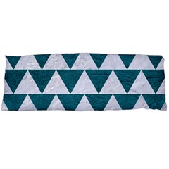 Triangle2 White Marble & Teal Leather Body Pillow Case Dakimakura (two Sides) by trendistuff