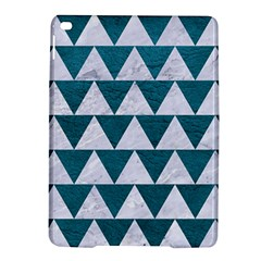 Triangle2 White Marble & Teal Leather Ipad Air 2 Hardshell Cases by trendistuff