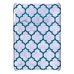 Tile1 White Marble & Teal Leather (r) Apple Ipad Mini Hardshell Case by trendistuff