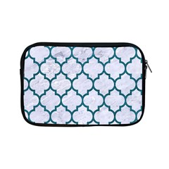 Tile1 White Marble & Teal Leather (r) Apple Ipad Mini Zipper Cases by trendistuff