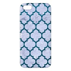 Tile1 White Marble & Teal Leather (r) Iphone 5s/ Se Premium Hardshell Case by trendistuff