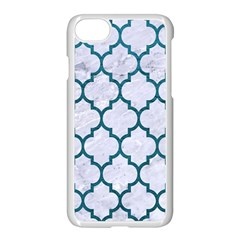 Tile1 White Marble & Teal Leather (r) Apple Iphone 7 Seamless Case (white) by trendistuff