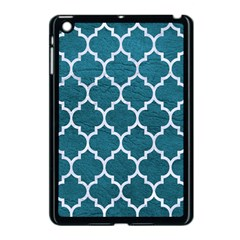 Tile1 White Marble & Teal Leather Apple Ipad Mini Case (black) by trendistuff