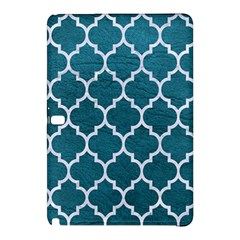Tile1 White Marble & Teal Leather Samsung Galaxy Tab Pro 12 2 Hardshell Case by trendistuff