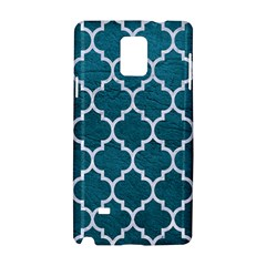 Tile1 White Marble & Teal Leather Samsung Galaxy Note 4 Hardshell Case