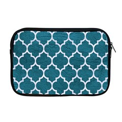 Tile1 White Marble & Teal Leather Apple Macbook Pro 17  Zipper Case by trendistuff