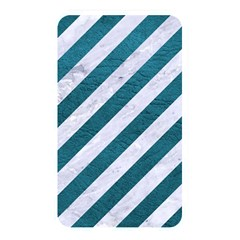 Stripes3 White Marble & Teal Leather (r) Memory Card Reader by trendistuff