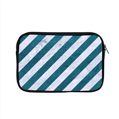 Stripes3 White Marble & Teal Leather (r) Apple Macbook Pro 15  Zipper Case by trendistuff