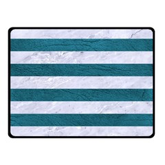 Stripes2white Marble & Teal Leather Double Sided Fleece Blanket (small)  by trendistuff