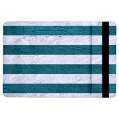 Stripes2white Marble & Teal Leather Ipad Air 2 Flip by trendistuff