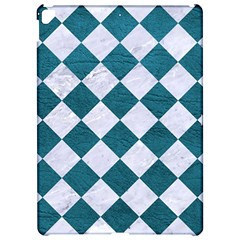 Square2 White Marble & Teal Leather Apple Ipad Pro 12 9   Hardshell Case by trendistuff