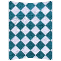 Square2 White Marble & Teal Leather Back Support Cushion