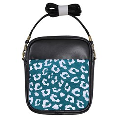 Skin5 White Marble & Teal Leather (r) Girls Sling Bags by trendistuff