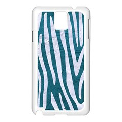 Skin4 White Marble & Teal Leather (r) Samsung Galaxy Note 3 N9005 Case (white)
