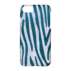 Skin4 White Marble & Teal Leather Apple Iphone 7 Hardshell Case by trendistuff
