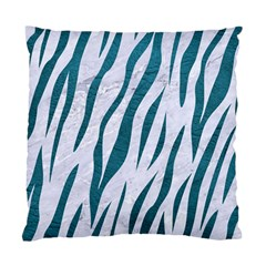 Skin3 White Marble & Teal Leather (r) Standard Cushion Case (one Side) by trendistuff