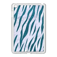 Skin3 White Marble & Teal Leather (r) Apple Ipad Mini Case (white) by trendistuff