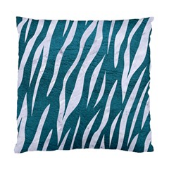 Skin3 White Marble & Teal Leather Standard Cushion Case (two Sides) by trendistuff