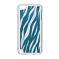 Skin3 White Marble & Teal Leather Apple Ipod Touch 5 Case (white) by trendistuff
